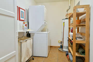 Laundry and utility room with washer and dryer