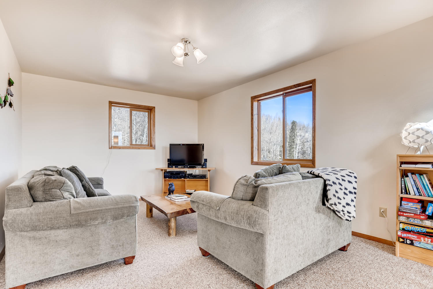 Second Family Room with sofa bed.