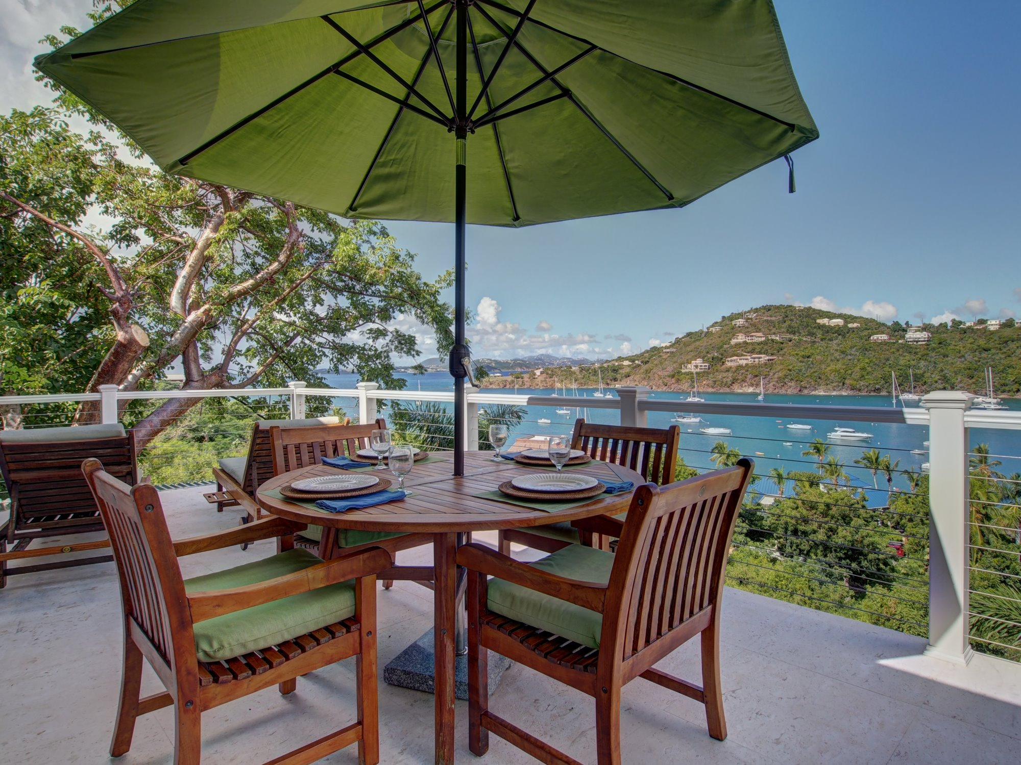 Enjoy the Breezes while dining on the deck!
