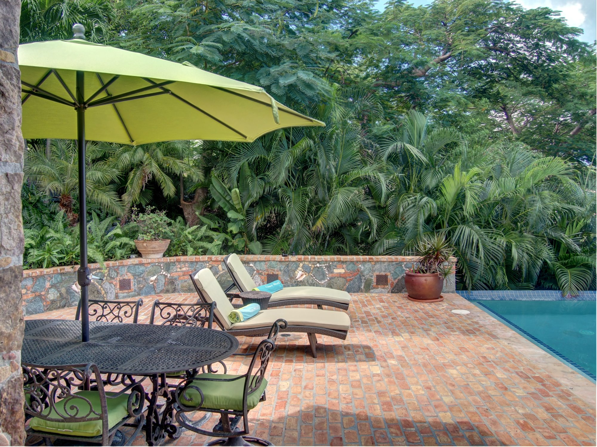 Enjoy privacy from a natural surrounding of Caribbean Vegetation