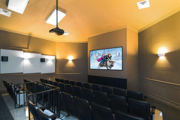 Watch a movie in the community theater
