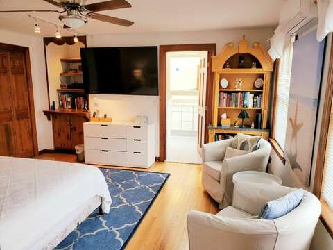 First floor bedroom, queen bed and ensuite bathroom.   335 Meeting House Rd- Chatham- New England Vacation Rentals