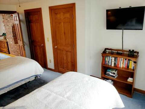 Bedroom #2 with TV for bedtime watching - Welcome to Chatham Tides! 335 Meeting House Rd- Chatham- New England Vacation Rentals