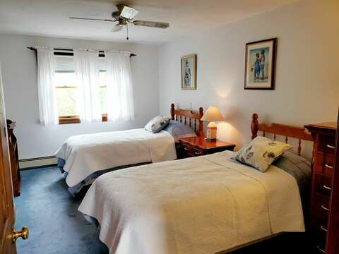 Bedroom #2 with two twin beds - Welcome to Chatham Tides! 335 Meeting House Rd- Chatham- New England Vacation Rentals