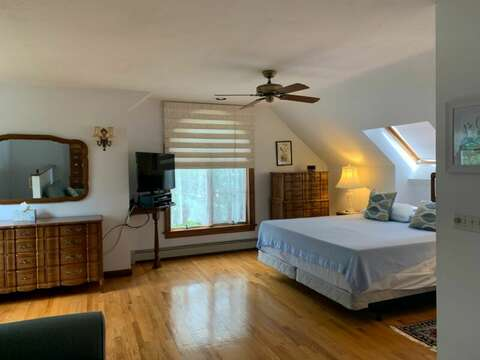 Upper Level Bedroom 4 with King Size Bed and EnSuite Full Bathroom - Welcome to Chatham Tides! 335 Meeting House Rd- Chatham- New England Vacation Rentals