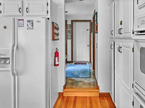 Back hall to bath , laundry and secret stairs to the master bed room!-335 Meeting House Rd- Chatham- New England Vacation Rentals