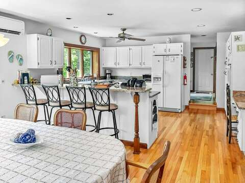 Large open concept kitchen and dining at- 335 Meeting House Rd- Chatham- New England Vacation Rentals