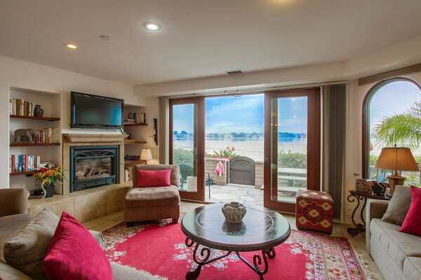 Incredible Bay Views from the Living Room of our Vacation Rental in San Diego, CA