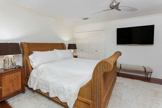 Master Bedroom with Queen Bed and TV