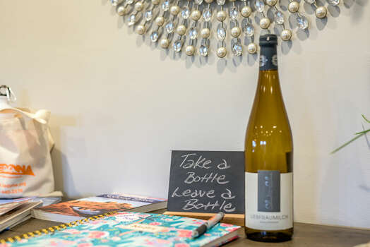 Take a Bottle, Leave a Bottle - And Don't  Forget to Sign the Guest Book