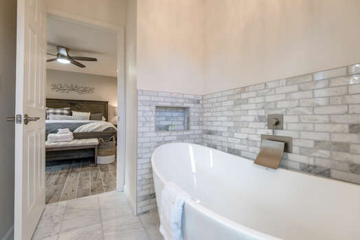 Private Bath with a Large Soaking Tub