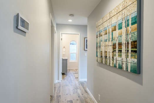 Hallway to Bedrooms and Shared Bath