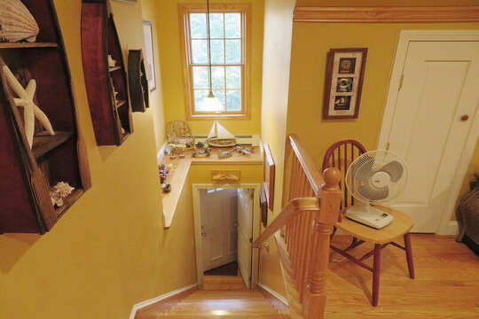 Stairs to second level--also offers A/C units 209 Indian Hill Road Chatham Cape Cod New England Vacation Rentals