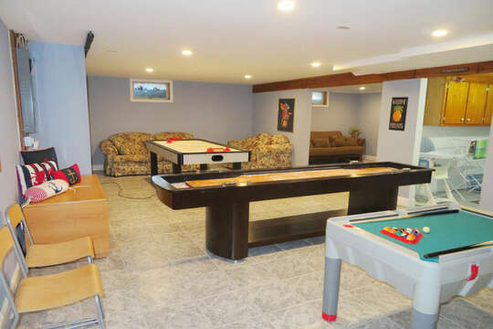 Game room on lower level - - 209 Indian Hill Road Chatham Cape Cod New England Vacation Rentals