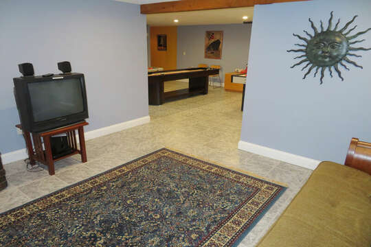 TV room on lower level as well-- 209 Indian Hill Road Chatham Cape Cod New England Vacation Rentals