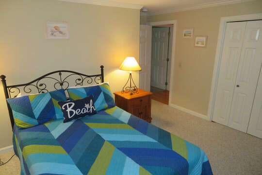 Double bed on 1st floor off hall-- 209 Indian Hill Road Chatham Cape Cod New England Vacation Rentals