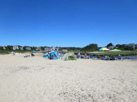 Ridgevale Beach is sandy and has warmer water-Chatham Cape Cod New England Vacation Rentals