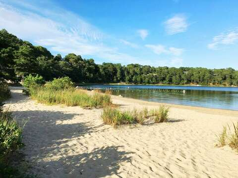 Schoolhouse Pond is right around the corner-fresh water pond - great for kids-Chatham Cape Cod New England Vacation Rentals