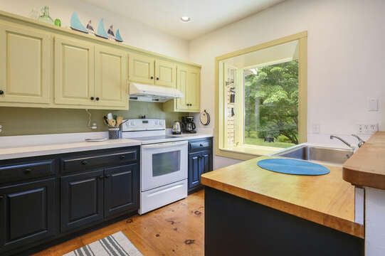 Kitchen with stove- 9 Reliance Way Harwich Cape Cod - New England Vacation Rentals