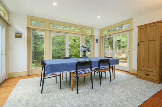 Dining Area with ample seating- 9 Reliance Way Harwich Cape Cod - New England Vacation Rentals