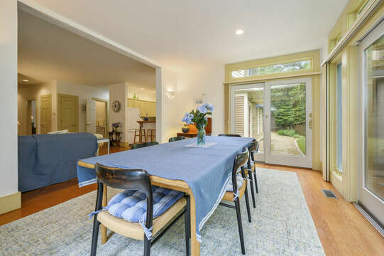Dining Area looking to living room and kitchen-9 Reliance Way Harwich Cape Cod - New England Vacation Rentals