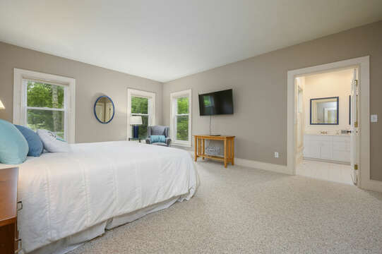 Bedroom #1 with King Main Floor- 9 Reliance Way Harwich Cape Cod - New England Vacation Rentals
