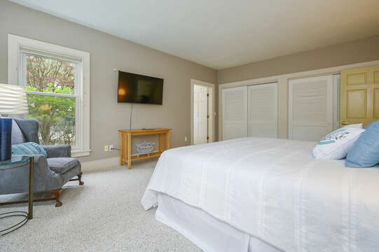 Bedroom #1 with king bed- Main Floor- 9 Reliance Way Harwich Cape Cod - New England Vacation Rentals