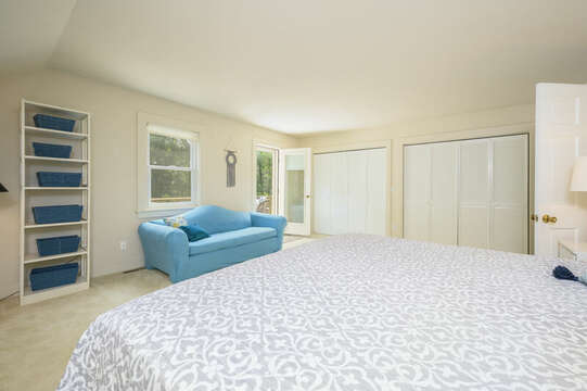 2nd Floor Bedroom #4 with king bed and private deck- 9 Reliance Way Harwich Cape Cod - New England Vacation Rentals
