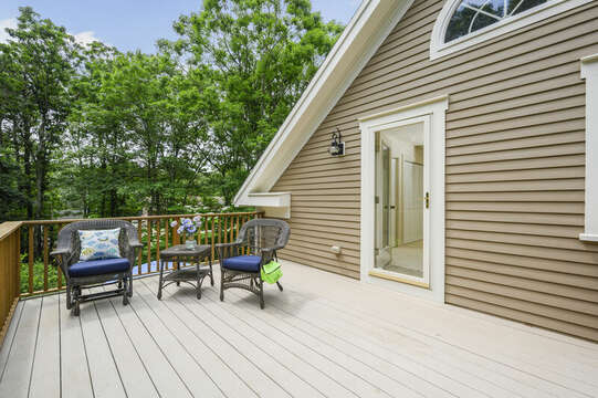 Bedroom #4 On Suite Private Deck- 9 Reliance Way Harwich Cape Cod - New England Vacation Rentals 2nd Floor