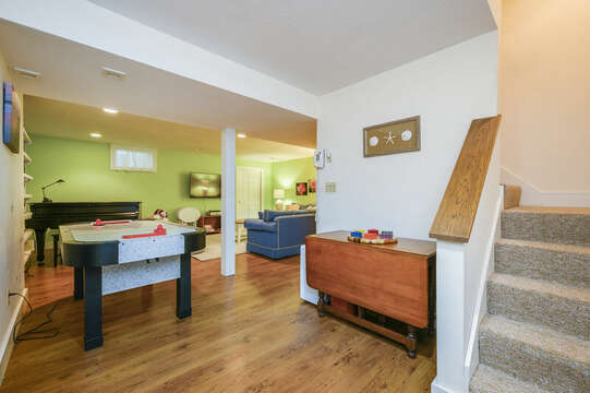 Lower Level Game Room- 9 Reliance Way Harwich Cape Cod - New England Vacation Rentals