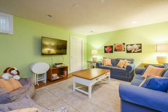Lower Level Game Room - 9 Reliance Way Harwich Cape Cod - New England Vacation Rentals