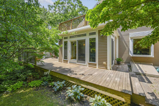 Deck off Dining Room- 9 Reliance Way Harwich Cape Cod - New England Vacation Rentals