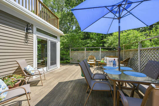 Large deck off Dining Room- 9 Reliance Way Harwich Cape Cod - New England Vacation Rentals