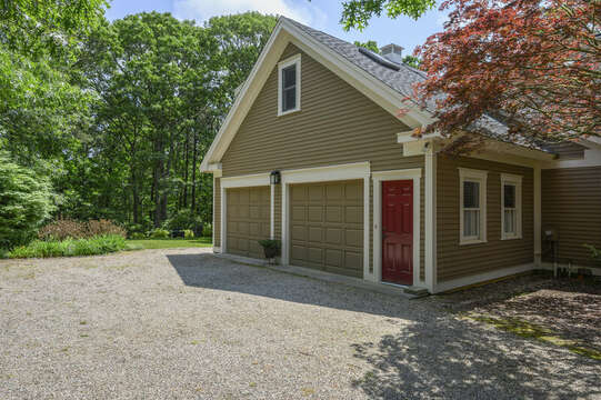 Side View of home with Garage- 9 Reliance Way Harwich Cape Cod - New England Vacation Rentals