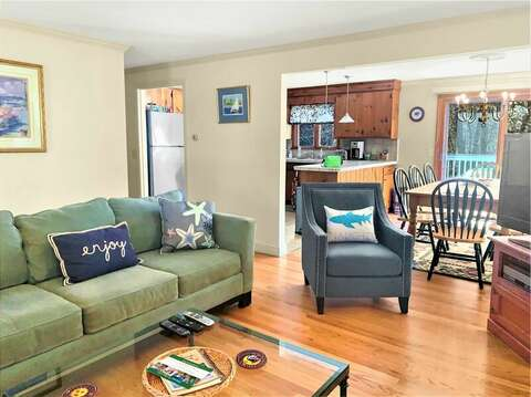 Comfy seating in Living room-- 209 Indian Hill Road Chatham Cape Cod New England Vacation Rentals