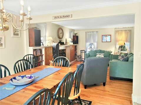 Open concept living--209 Indian Hill Road Chatham Cape Cod New England Vacation Rentals