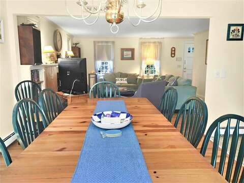 Large table for dining--209 Indian Hill Road Chatham Cape Cod New England Vacation Rentals