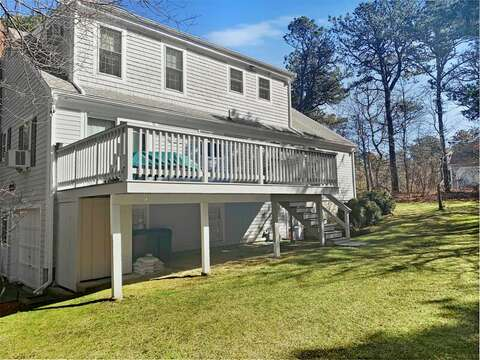 Great back yard and deck! 209 Indian Hill Road Chatham Cape Cod New England Vacation Rentals