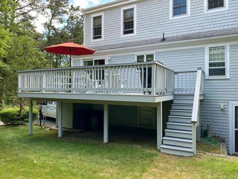 Great back yard and deck and fire pit! 209 Indian Hill Road Chatham Cape Cod New England Vacation Rentals