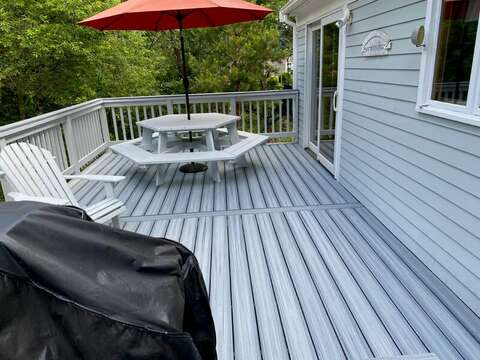 New deck perfect outdoor entertaining! 209 Indian Hill Road Chatham Cape Cod New England Vacation Rentals