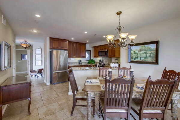 Open Kitchen and Dining Area in our Vacation Rental in San Diego