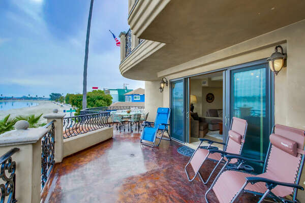 Bayfront Deck with Panoramic Views at our Vacation Rental in San Diego
