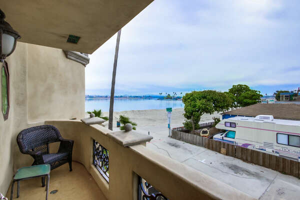 Guest Bedroom Balcony with Bay Views