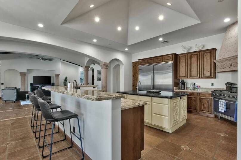 Kitchen with Upgraded Amenities in our Casa Palacio Vacation Rental in Scottsdale