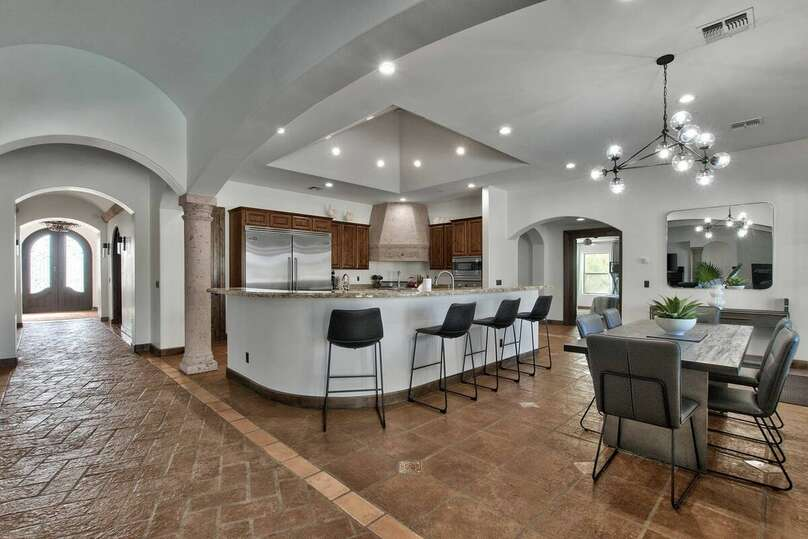 Kitchen and Dining Room Table in the Casa Palacio in Scottsdale