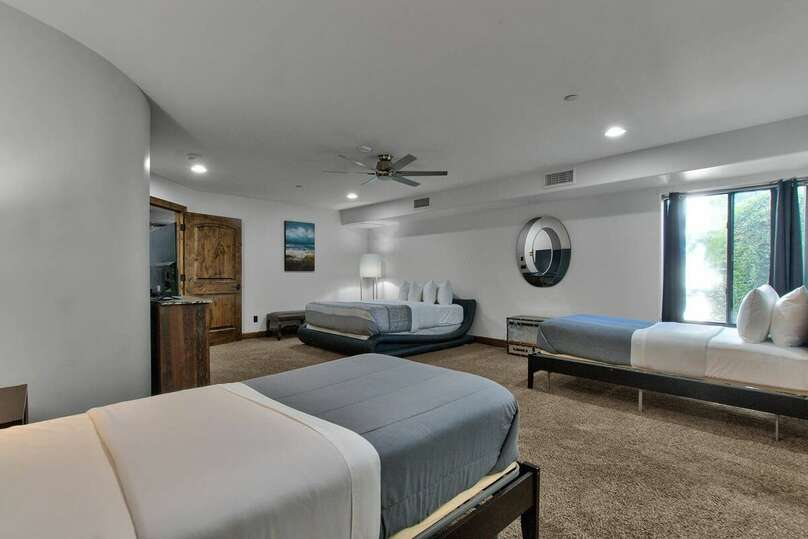 Bedroom with Multiple Beds in our Vacation Rental in Scottsdale Arizona