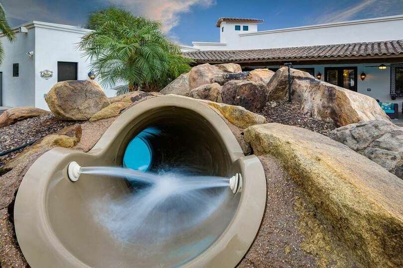 Water Slide at the Casa Palacio Vacation Rental in Scottsdale Arizona