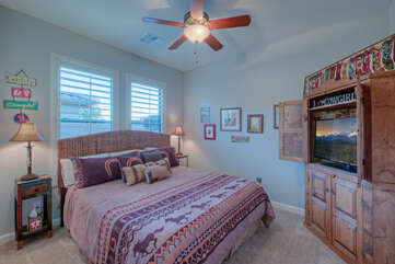 Well appointed fourth bedroom is yet another place to enjoy dreams about the spectacular southwest
