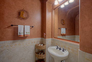 A powder room is ideal when visitors stop by