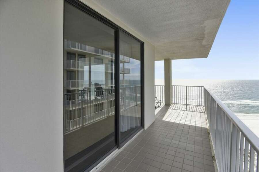 Large Private Balcony Overlooking the Beach and the Gulf of Mexico